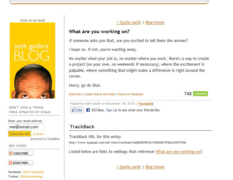 Seth godin screen cap